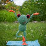 mit Yoga im Freien entspannt Fred ?♂️
