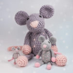 Crochet pattern Rat Rosalie available in three sizes